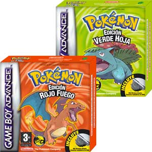 Pokémon Edición Verde Hoja y Rojo Fuego