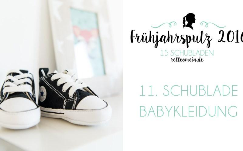 Babykleidung falten und aufbewahren - Frühjahrsputz 2016 - Mehr Ordnung in 15 Schubladen | relleomein.de