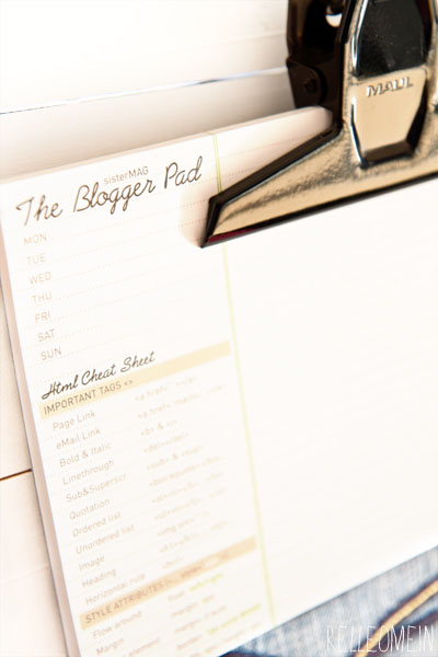 The Blogger Pad Sister Mag | relleoMein