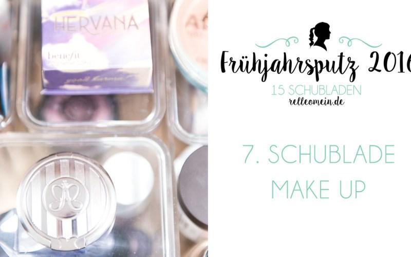 Make up Aufbewahrung im Badezimmer - Frühjahrsputz 2016 - Mehr Ordnung in 15 Schubladen | relleomein.de