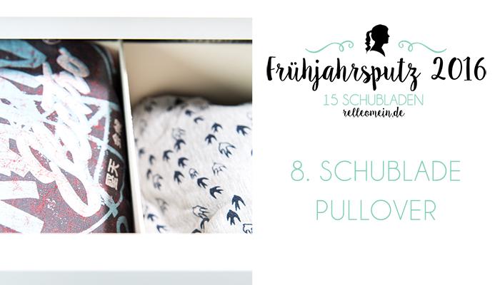 Pullover hochkant in eine Kommode einräumen - Frühjahrsputz 2016 - Mehr Ordnung in 15 Schubladen | relleomein.de