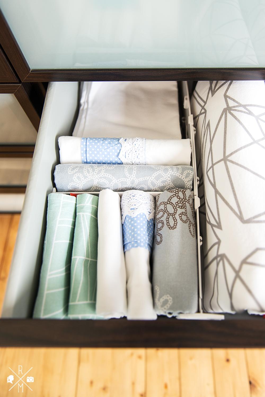 Bettwäsche aufbewahren in Schublade und Kleiderschrank - Marie Kondo - Organize my Life - Ordnungstipis   relleomein.de
