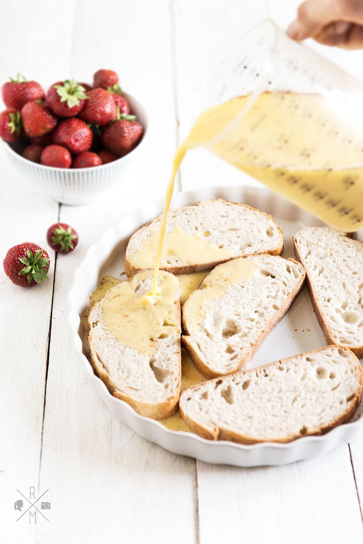 french toast mit frischen erdbeeren inkl thermomix variante rezepte ordnungsideen und diy. Black Bedroom Furniture Sets. Home Design Ideas