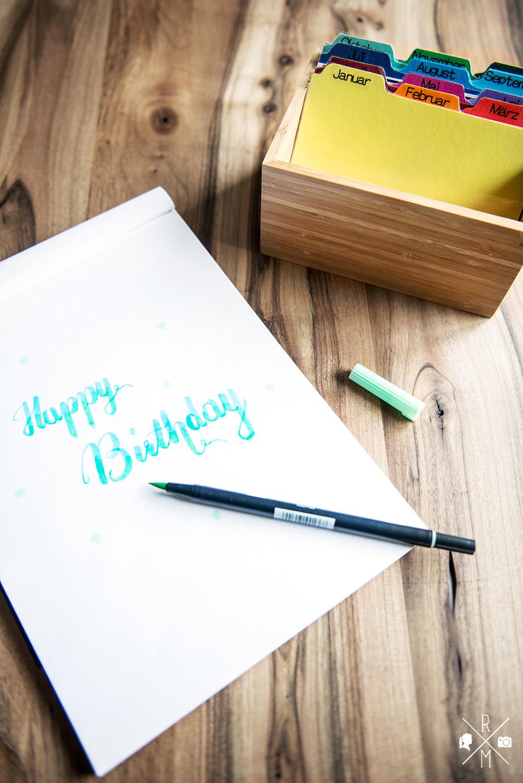 Geburtstagskalender selber machen - Geburtstagskarten Box   relleomein.de