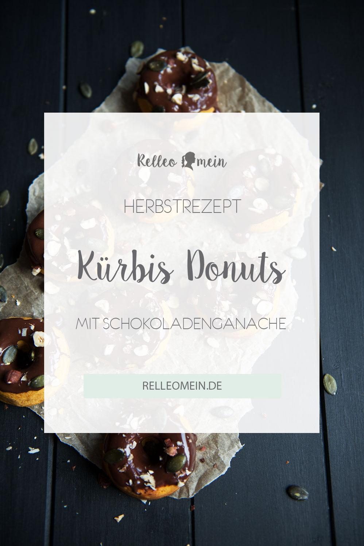 Kürbis Mini Donuts mit Schokoladenganache aus dem Backofen - Thermomix® Rezept | relleomein.de