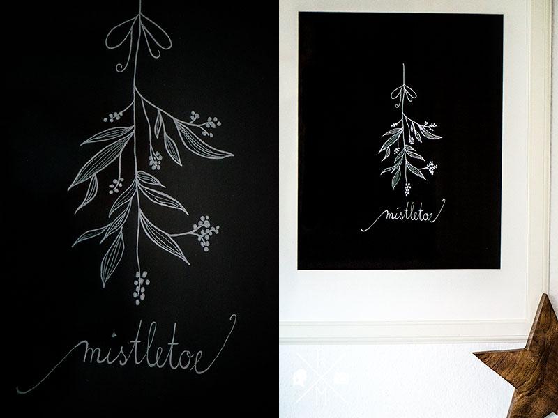 poster selber gestalten chalkboard mistelzweig rezepte ordnungsideen und diy. Black Bedroom Furniture Sets. Home Design Ideas