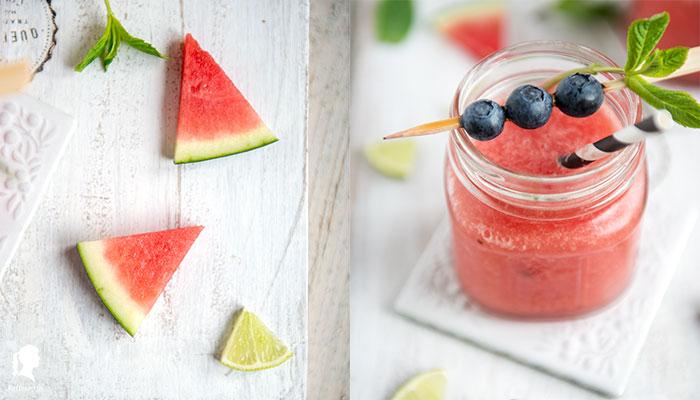 Sommerlicher Moscow Mule mit Wassermelone