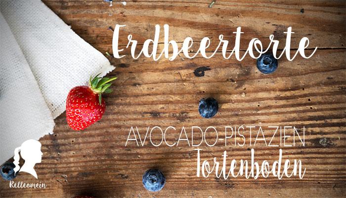 Erdbeertorte mit Avocadobiskuit und Blaubeeren - Naked Cake mit frischen Erdbeeren | relleomein.de