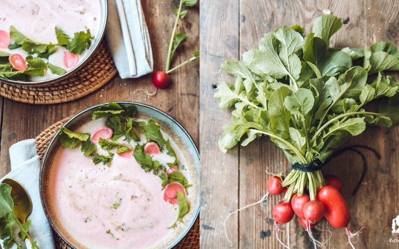 Radieschensuppe mit Radieschengrün Pesto | relleomein.de #vegan #thermomix #suppe #foodblogger