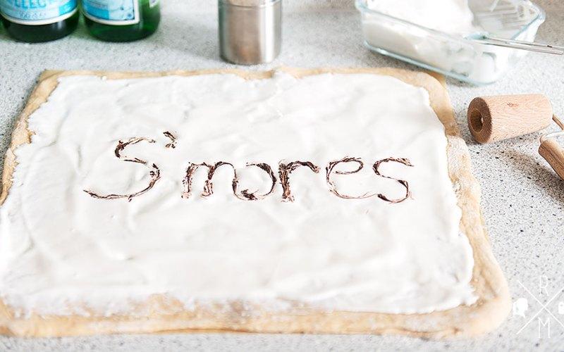 S'mores Zimtschnecken mit Marshmallow Fluff