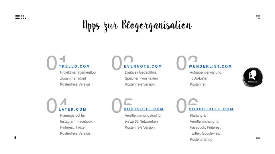 Zeit ist jetzt - Strukturiert und organisiert bloggen - Apps zur Blogorganisation  relleomein.de