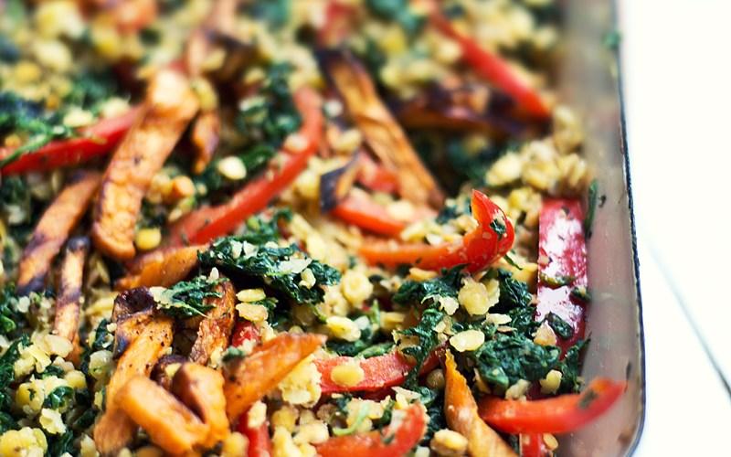 Sweet Potato Lentil Salad #vegan #detox #cleaneat | relleomein.de