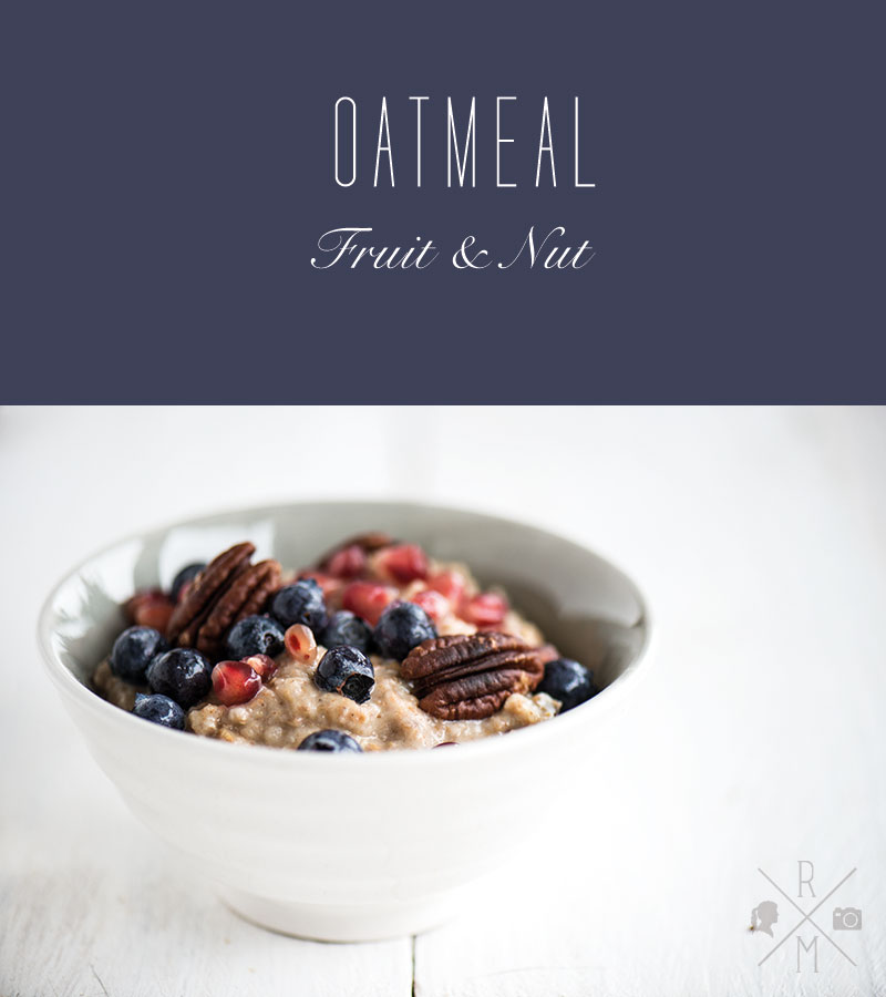 vegan oatmeal fruit and nut | relleomein.de #veganforyouth #vfy #hotcereal