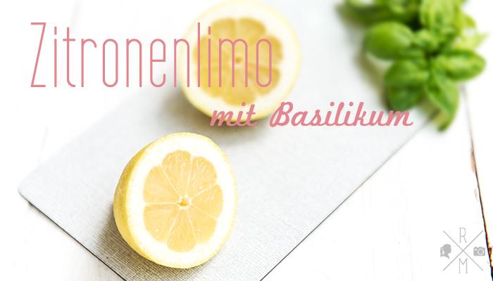 Zitronenlimonade mit Basilikum   relleomein.de #rezept #limonade