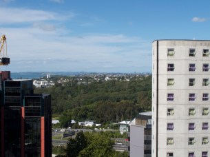 Blick aus meinem Appartement