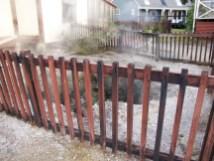 Te Puia - Maori Dorf - darüber stand vor 5 Jahren noch ein Haus