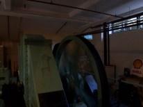 Maschinenraum der aktuellen Anlage (2 Sek. belichtet, das Rad dreht sich nicht so schnell ;) )