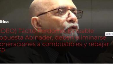 Photo of Tácito Perdomo: Es loable propuesta Abinader, deben eliminarse exoneraciones a combustibles y rebajar AFP