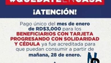 Photo of Este Jueves 28 de enero Ya estará disponible el pago único del mes de la tarjeta Progresando con Solidaridad y cédula