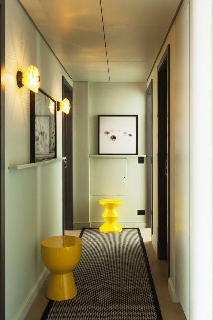 Couleur peinture couloir porte