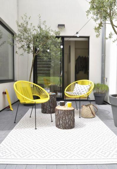 Terrasse jaune