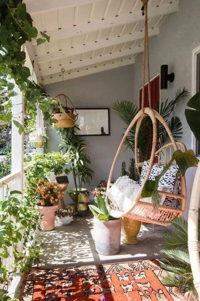 Terrasse avec verdure