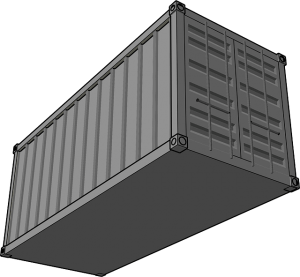 Shipping container - you can pack for as long as you want.