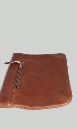 Country Road Brown Leather Clutch