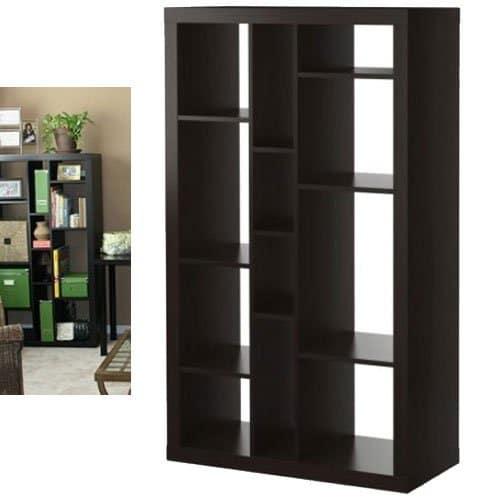 Ikea Expedit biblioteca / soporte de TV multiusos negro marrón
