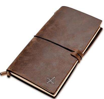 Diario de cuaderno de cuero | Encuadernación de cuero recargable | Perfecto para escribir
