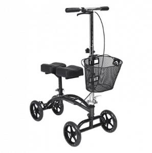Drive Medical - Elevador de rodilla giratorio de dos almohadillas con cesta, alternativa a las muletas