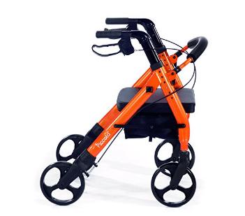 """Comodità Piccola (Small) Cinta de correr resistente con asiento cómodo de 15 """"de ancho - Naranja Metálico"""