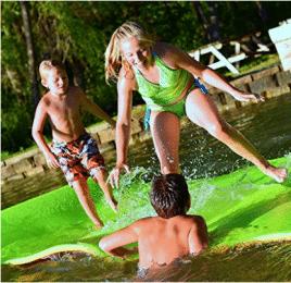 Dockie Almohadilla de agua de goma flotante 18 x 6 pies