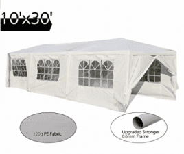 "Peaktop 10 ""Resistente al aire libre Fiesta de bodas Carpa para bodas Canopy Pabellón Pabellón Canopy Storage Pavilion 10"" x30 """