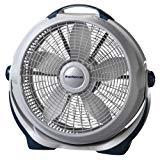 """Ventilador Lasko 3300 de 20 """"para aerogeneradores con 3 velocidades de eficiencia energética - Cabezal giratorio para circulación de aire direccional"""