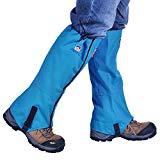Winis Snow Gaiters Senderismo Camping Escalada Leggings Oxford Legwarmers Impermeable y a prueba de polvo A prueba de polvo Respirable Anti-mordida Polainas de pierna alta Protector de pierna Guardian Boot Protectors (1 par) (Azul)