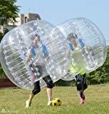Bola anotadora humana de PVC transparente YaeKoo de 5 pulgadas de diámetro y 1,5 m de diámetro, bola de parachoques humana, balón de fútbol de burbujas, balón de fútbol para exteriores, balón Zorb