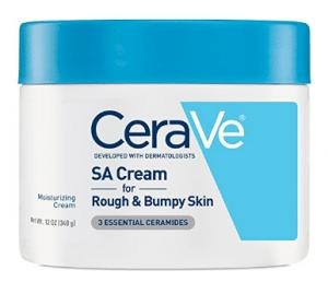 CeraVe Renewing SA Cream crema hidratante corporal de 12 oz con ácido salicílico para pieles ásperas y con baches
