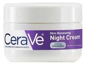CeraVe crema de noche refrescante para la piel, hidratante facial de 1,7 onzas de complejo de niacinamida y péptidos para suavizar la piel