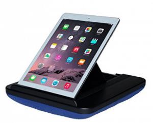 Prop N Go Slim: almohada para iPad con control de ángulo ajustable para iPad Air, iPad Mini, iPad Pro, iPhone, tabletas, lectores electrónicos y más (azul)