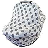Asiento extensible multiusos para el automóvil | Manta de enfermería | Funda para carrito y trona | Bufanda - Guisantes | Mejor regalo de nacimiento para niños y niñas | Adecuado para asiento de bebé | para madres lactantes