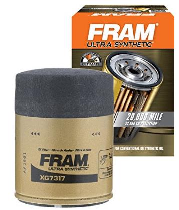 FRAM XG7317 Filtro de aceite de tornillo ultra sintético con mango de agarre seguro