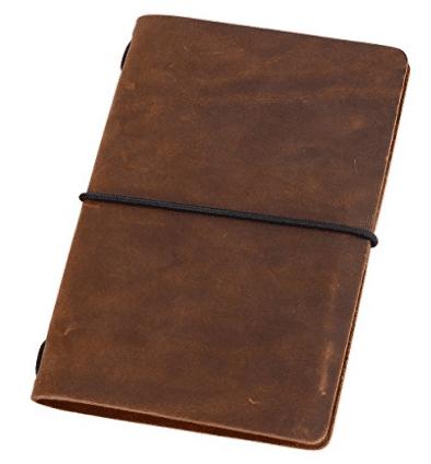 Cuaderno para viajeros - Portada de cuero para notas de campo