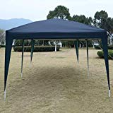 "Giantex 10 ""x20"" Ez POP Up Carpa de fiesta de boda Plegable Gazebo de toldo de playa con bolsa de transporte (Azul)"