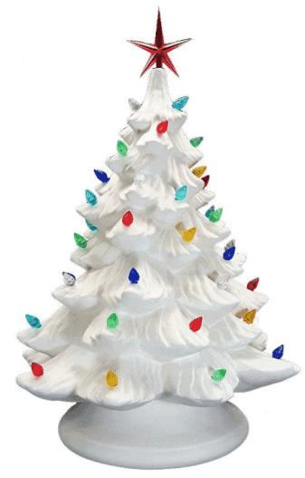 Bisque de cerámica - Listo para pintar - Gran árbol de Navidad y base