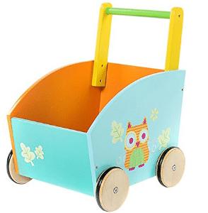 Silla de bebe Labebe naranja madera impresa madera