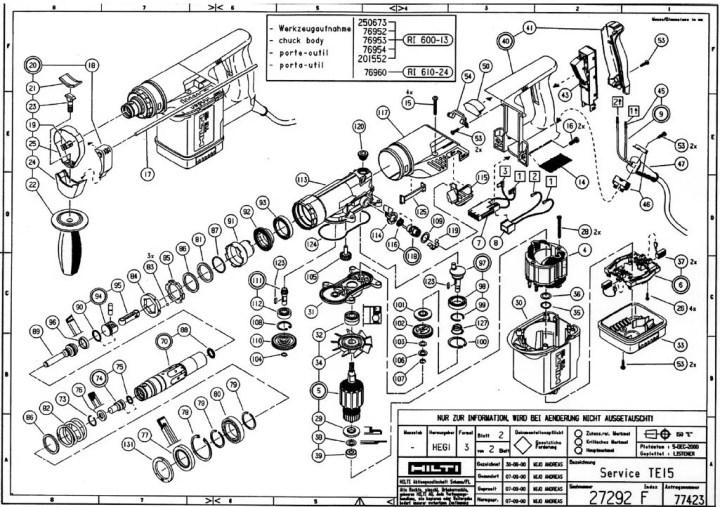 Hilti Te 70 Spare Parts List Newmotorwall Org