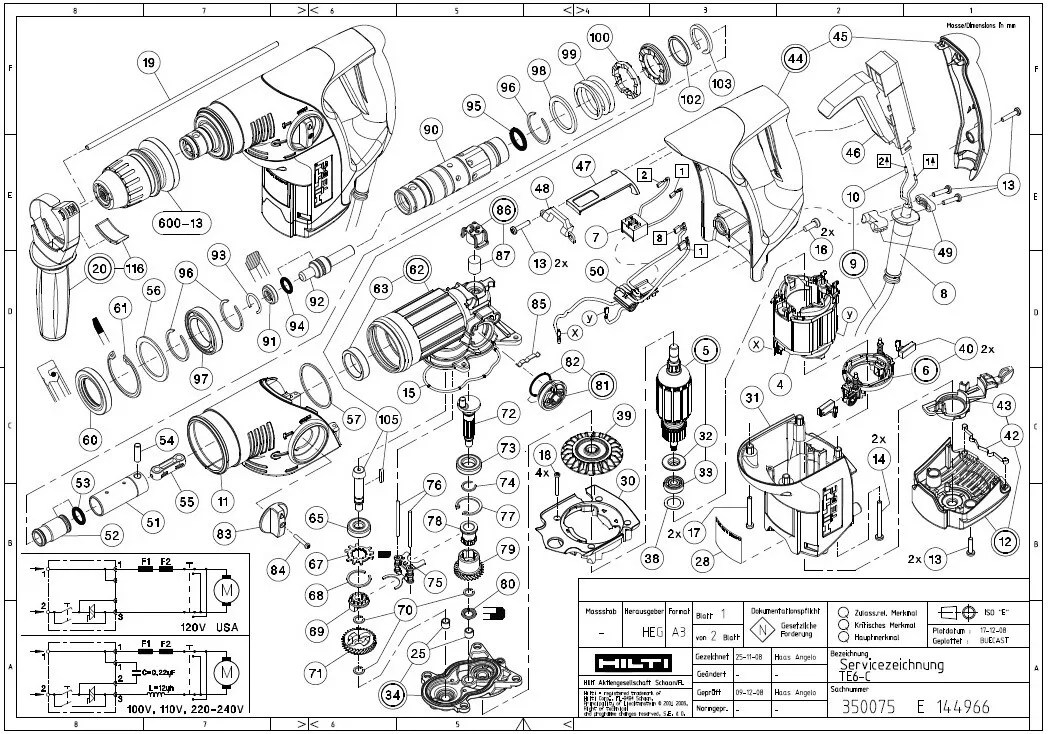hilti te 72 parts diagram