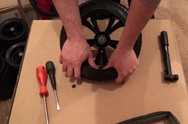 Замена камеры на колесе коляски