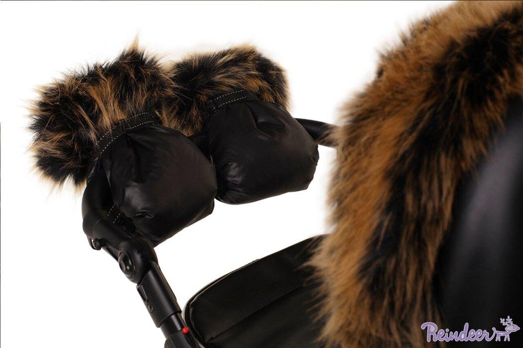 Муфты для рук Reindeer с меховой отделкой (Черный)
